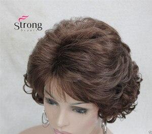 Image 4 - Ngắn Xoăn DARK AUBURN Tóc Tổng Hợp Toàn bộ tóc giả nữ Dày Tóc Giả Cho Hàng Ngày