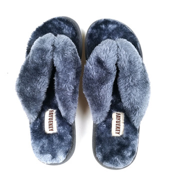 FAYUEKEY 2020 New Fashion Spring Summer Winter Home Cotton Plush Slippers Women Floor Flip Flops Zapatos De Mujer Flat Shoes 3