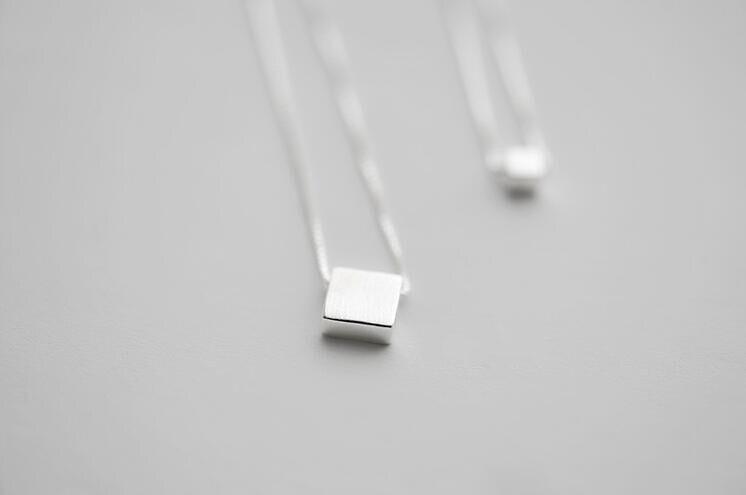 Jisensp Модное Элегантное ожерелье для женщин квадратный блок двойная цепь ожерелье s& Подвески Ювелирные украшения, как на фото многослойный воротник Colar
