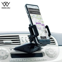 Xmxczkj universal titular do telefone do carro cd slot suporte de montagem suporte móvel telefone celular smartphone titular no carro para o iphone x 8 7 s