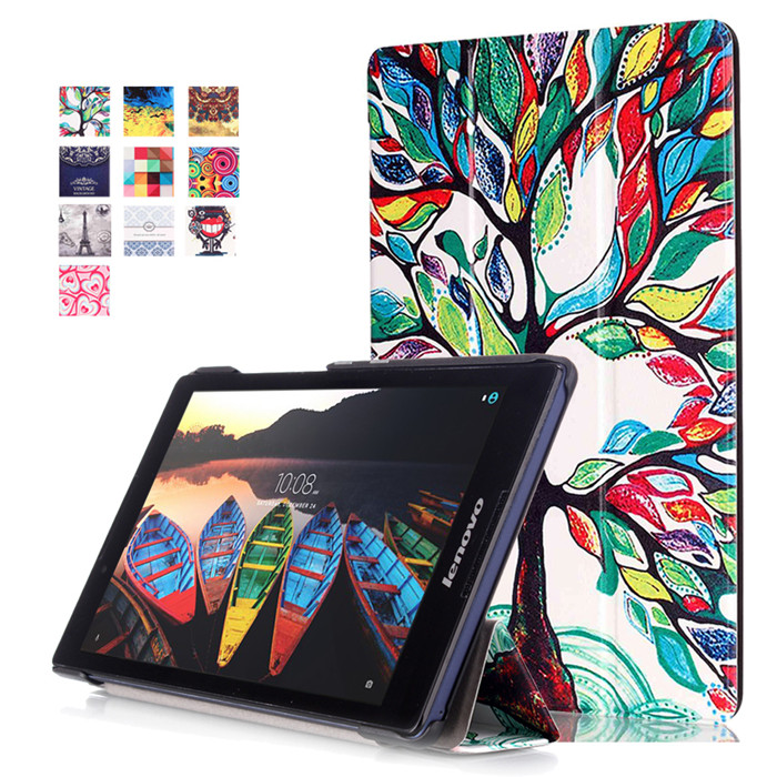 PU Leather Cover Stand Case for Lenovo TAB3 8 850 (TB3-850F/TB3-850M) tab3-850 8 Tablet + 2Pcs Screen Protector 3 in 1 new ultra thin smart pu leather case cover for 2015 lenovo yoga tab 3 850f 8 0 tablet pc stylus screen film