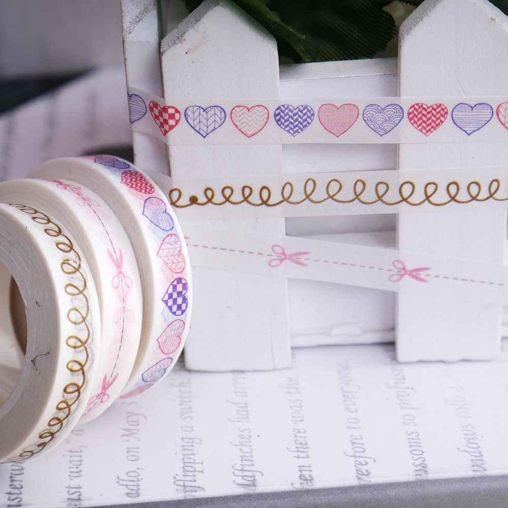 1 шт. тонкая рисовая бумага лента Набор для скрапбукинга сердце декоративная