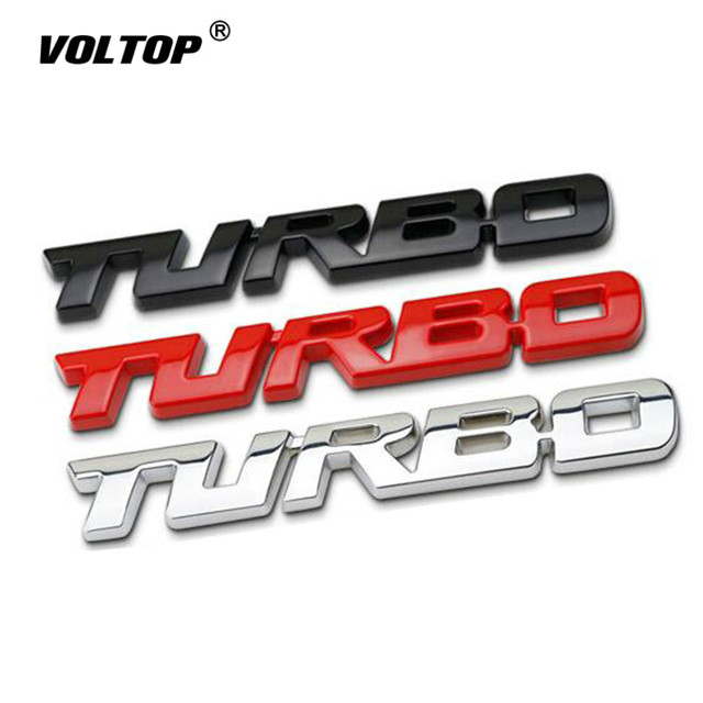 3D Auto Sticker Metalen TURBO Embleem Lichaam Achterklep Badge Voor Ford Focus 2 3 ST RS Fiesta Mondeo Tuga ecosport Fusion