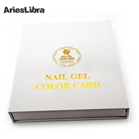 Nail Art Salon Display Cards Paint 120 Color Fingernail Gel Polish Box Show Chart Blank Platter Book Tools