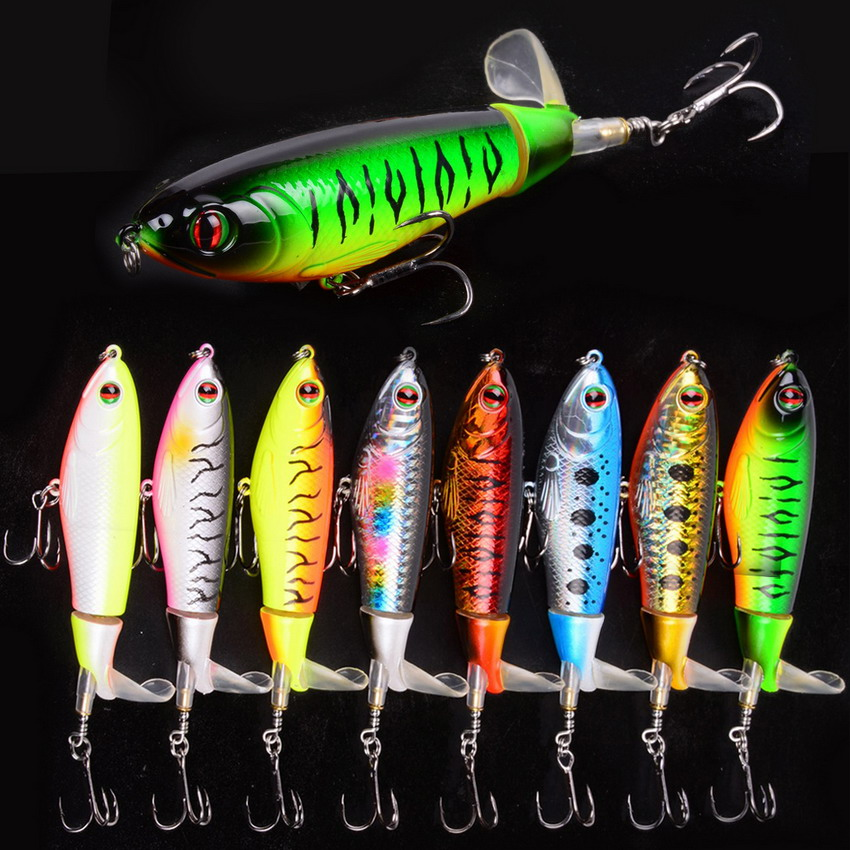 Whopper Plopper 105mm 17.2g Isca Artificial Top Water Fishing Lure Artificial Hard Bait Popper Wobblers Rotating Tail