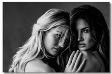 Custom Canvas Wall Mural Lily Aldridge Vintage Poster Candice Swanepoel Wallpaper Black And White Stickers Bedroom Decor #0914#(China)