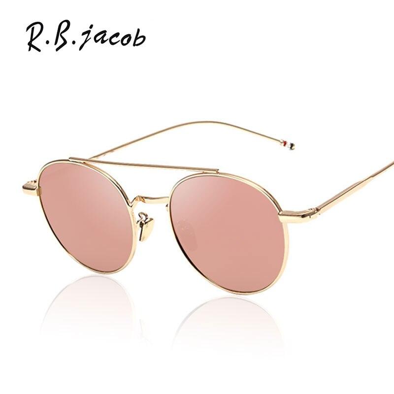 2017 New Round Famous Brand Design Small Size Alloy Frame Women Men Mirror Sunglasses Drive Sun Glasses Male Female