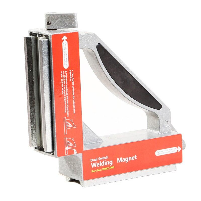 ALLSOME двойной переключатель неодимовые сварочные магниты/Сильный NdFeB магнитный зажим магнитный держатель 50Kgf HT1939