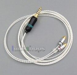 4.4mm Earphone Silver Plated Cable For DUNU DN-2002 2BA T5 2Dynamic Hybrid Headphone LN005666