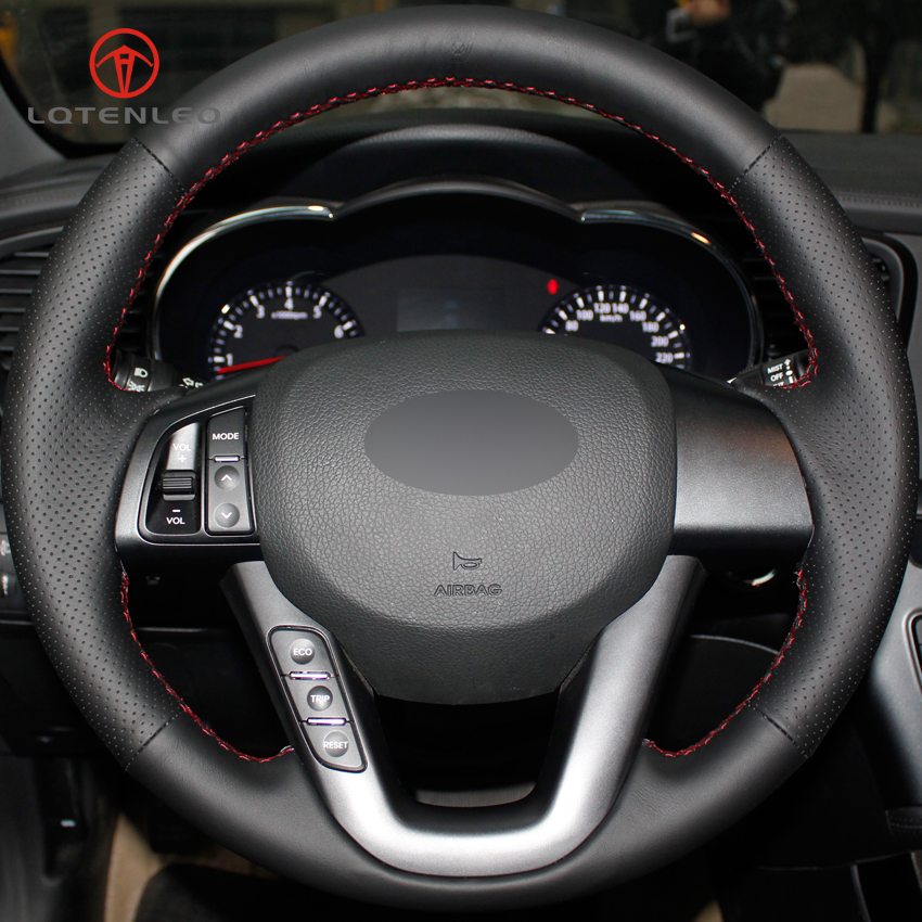 2013 Kia Optima Sx For Sale: LQTENLEO Black Artificial Leather Hand Stitched Car