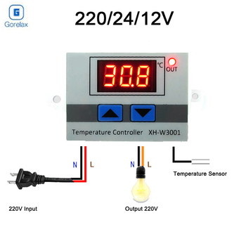 Digital LED Temperature Controller Thermostat Control Switch Max 10A 220V 1500W Intelligent Temperature Regulator with 1m Probe