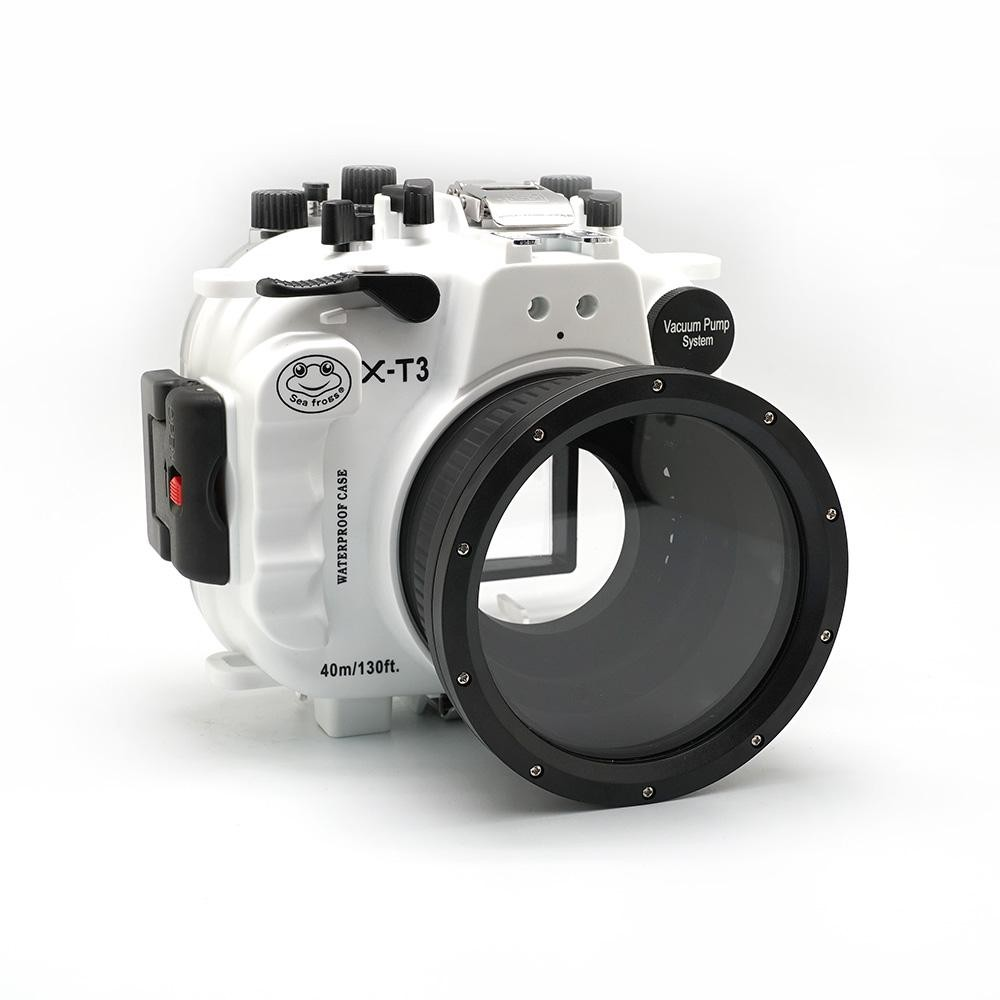 Waterproof Underwater Camera Housing <font><b>Case</b></font> kit FP.1For <font><b>Fujifilm</b></font> <font><b>X</b></font>-<font><b>T3</b></font> 40M/130FT White Black image
