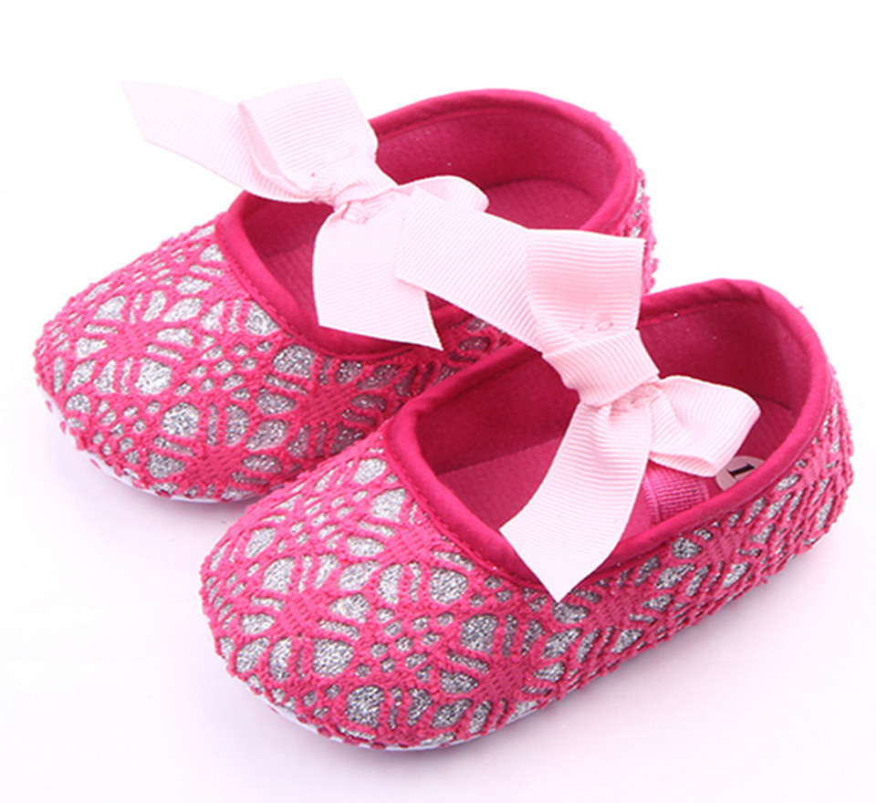 Baby Shoes First-Walkers Soft-Sole Toddler Bebe Girl Princess Mesh Sapatinho Cute Bowknot