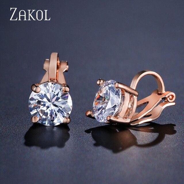 Clip Earrings Crystal Fashion Womens Jewelry  2