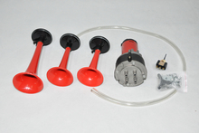 Frete grátis Universal 3 X triplo 135dB Air chifre Kit Trumpet Compressor 12 V carro [ QPL35 ]