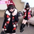 Осень и зима ребенок жилет хлопка жилет девочек одежда ребенка утолщение жилет верхняя одежда для 4-14 лет