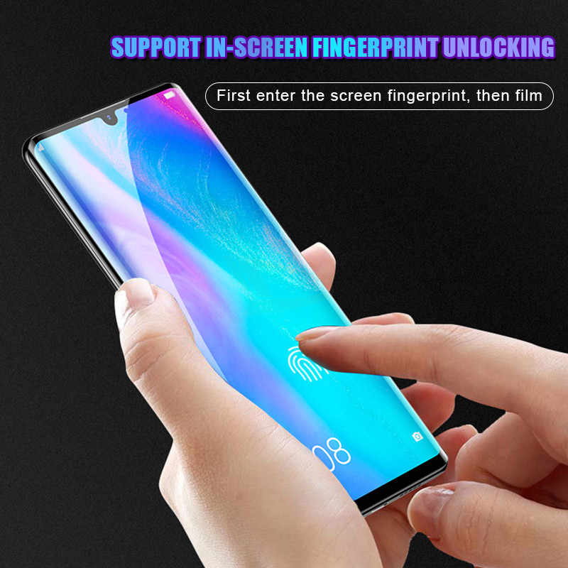 20D Full Curved Tempered Screen Glass On The For Huawei P20 Pro P30 Honor  10 Lite Protective Glass For Huawei P Smart 2019 Film