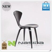 111 натуральный боковой стул орех или ясень деревянный Норман Чернер стул стулья из фанеры красный черный белый обеденный стул