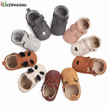 Baby First Walkers Shoes For Girls Soft Moccasins Shoe 2019 Spring Animals Cat Baby Girl Sneakers Boy Newborn Shoes First Walker cheap Wutongshu Patch Spring Autumn Buckle Strap Animal Prints Unisex Fits true to size take your normal size blue pink green yellow white gray