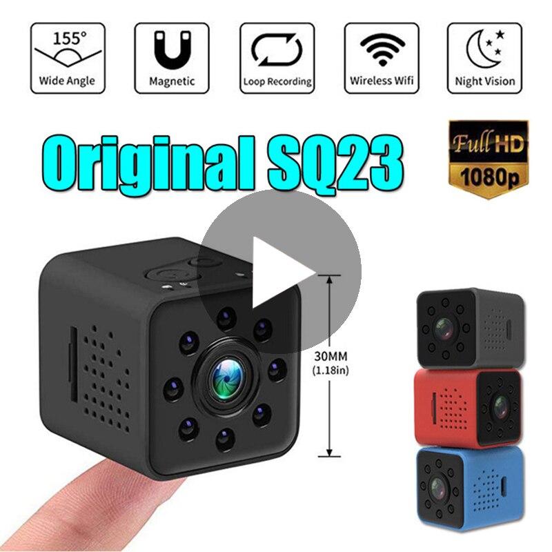 SQ23 SQ 23 Inteligente HD 1080 p Visão Noturna Pequeno Segredo Micro Mini Câmera de Vídeo Cam IP WiFi Wi-Fi Wi fi Corpo DV Minúsculo Microchamber