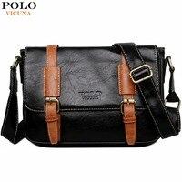 VICUNA POLO Man Vintage Leather Messenger Bag Famous Brand Business Man Bag Men S Shoulder Bags