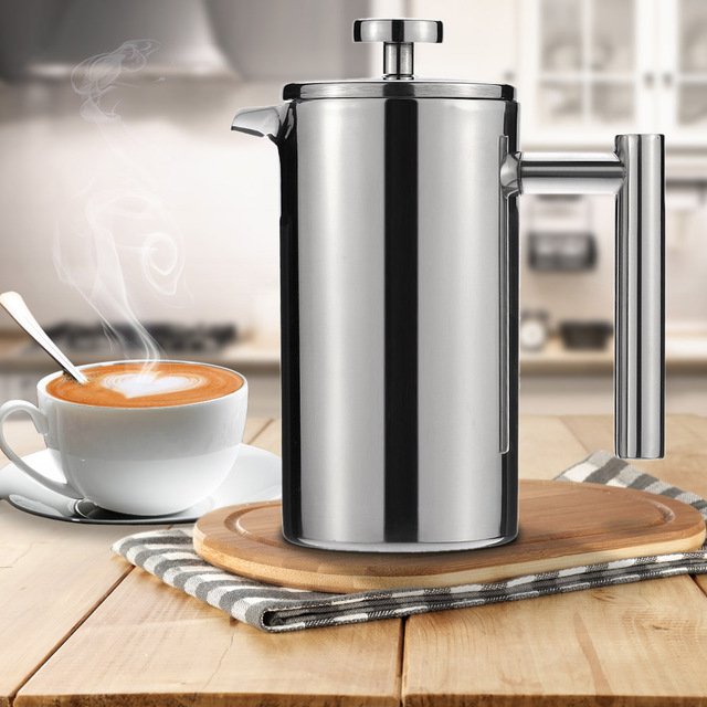 350 750 1000ml High Quality Stainless Steel French Press Pot Cafetiere Coffee Cup Tea