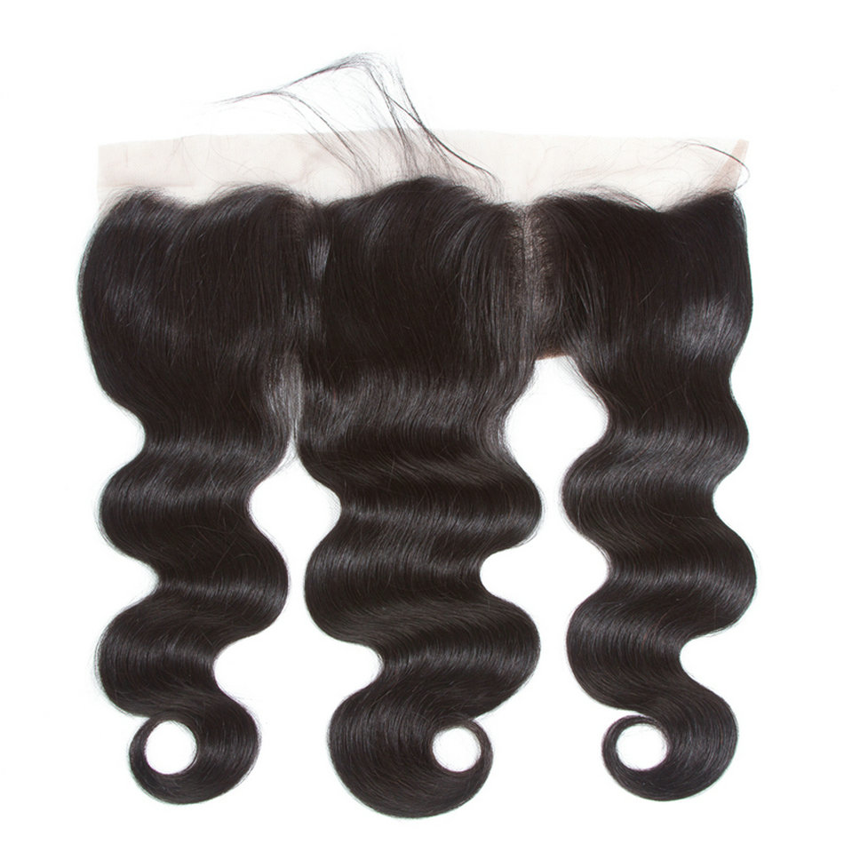 Hair Extensions & Wigs Yavida Brazilian Body Wave Lace Frontal Free Part Ear To Ear Human Hair Lace Closure Size 13x4 Inch Natural Color Non Remy Hair Lace Closures & Frontals