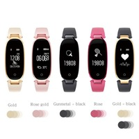 S3 Smart Band Bracelet Sport Fitness Tracker Step Counter Clock GPS Heart Rate Wrist Smartband for Lady Women