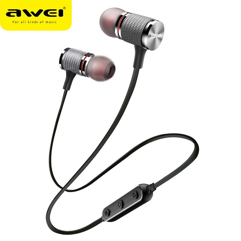 AWEI T12 Bluetooth Earphone Wireless Headphone Headset For Phone Sport earphone with mic Bluetooth CSR V4.2 Super Bass Earpiece awei es860hi super bass in ear headphone mic remote volume control earphone dropshipping apr 6