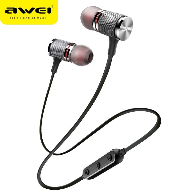 AWEI T12 Bluetooth Trasduttore Auricolare Senza Fili Della Cuffia Auricolare Per Il Telefono di Sport del trasduttore auricolare con il mic Bluetooth CSR V4.2 Super Bass Auricolare