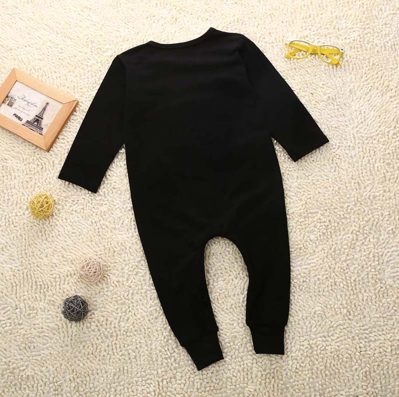 Boss baby boys girls rompers long sleeve boys spring autumn rompers clothes newborn baby rompers jumpsuit black 0-24 months 3