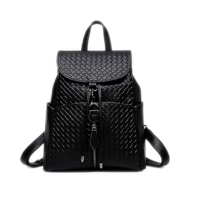 36e3774957 New college wind schoolbag washed leather backpack woman Korean tidal  fashion leisure travel bag weave Boutique