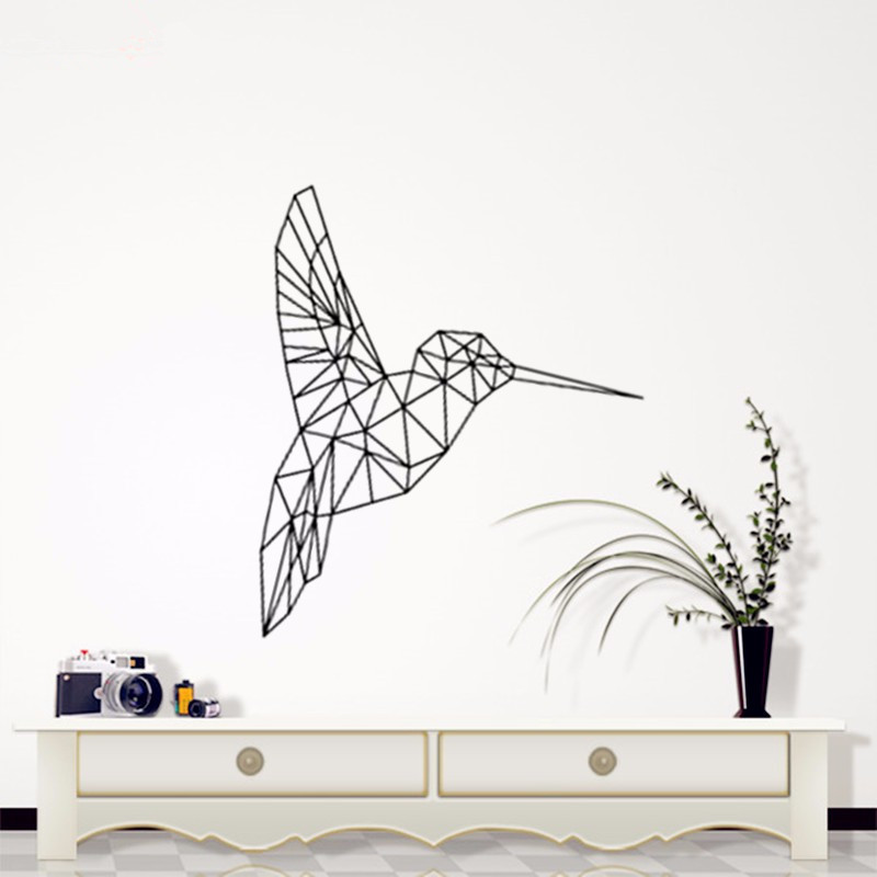 C086 Geometric Vinyl Bird Wall Stickers home decor Geometry Series Decals Wall Art for Home Decor Animal bird picture poster