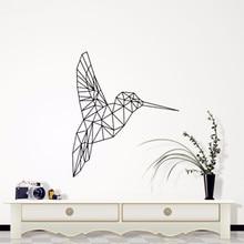 C086 Geometrische Vinyl Vogel Wandaufkleber steuern dekor Geometrie Serie Abziehbilder Wandkunst für Wohnkultur