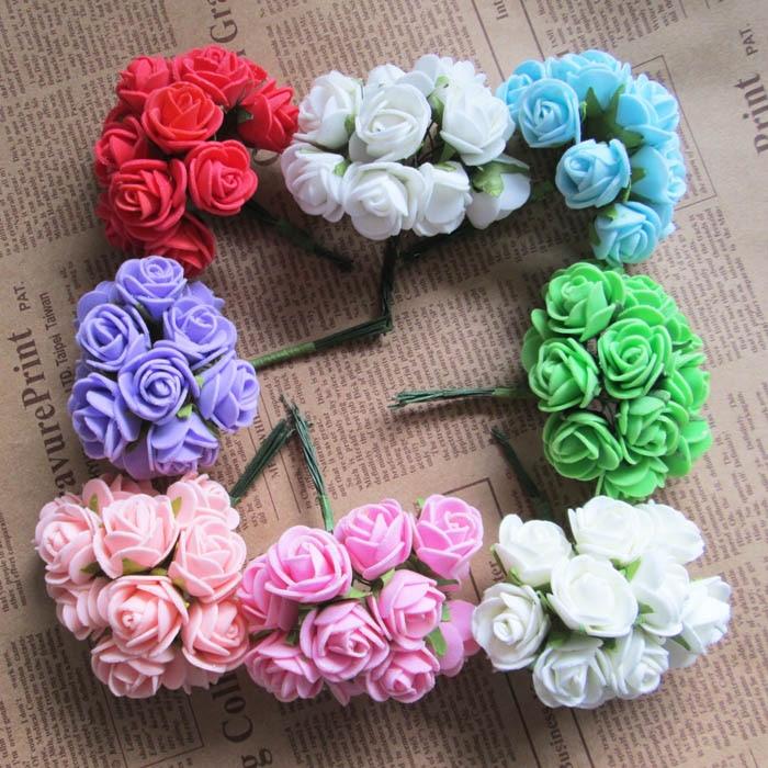 2.5cm Foam rose flower bouquets DIY Party Garland Wedding Centerpieces Bridal Bouquet Crafts Decoration artificial flower wreath thumbnail
