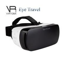 ตาเดินทางFOV120ที่สมจริงVRกล่อง3D VRความจริงเสมือนแว่นตาอ้อมสัมผัสVRชุดหูฟังสำหรับ3.5-5.5 Incheมาร์ทโฟน