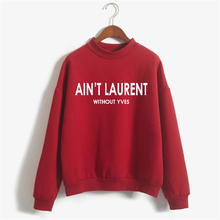 Womens Winter Clothing Sweatshirt AINT LAURENT hoody hoodies female crew neck casual fleece jumper moletom NSW-F4203-66