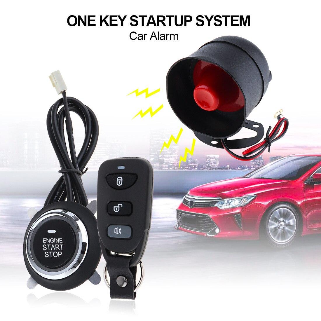 Système de Sécurité D'alarme De Voiture universel Télécommande Start Stop Bouton Verrouillage Déverrouillage Sans Clé Système Automatique Du Moteur D'entrée Centrale Kit 5A