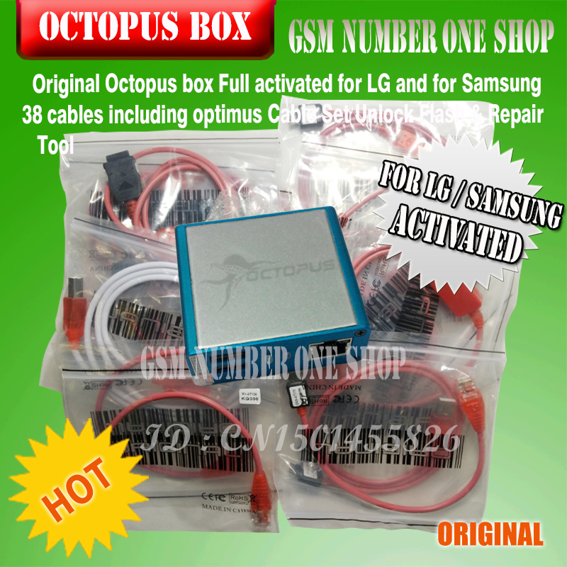Original new Octopus box (package with 38 cables)for Samsung &LG  Pre-activated New update For Samsung S5