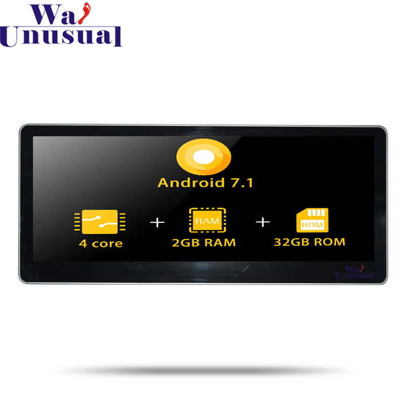 Navigation GPS de voiture Android 7.1 wanhabituel pour AUDI A4L 2017 pas de lecteur DVD Radio automatique Double Din MP4 centre multimédia Quad Core vidéo