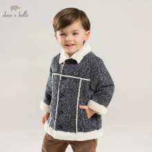 DB8707 dave bella autumn winter baby boys fashion jacket children high quality coat infant toddler outerwear