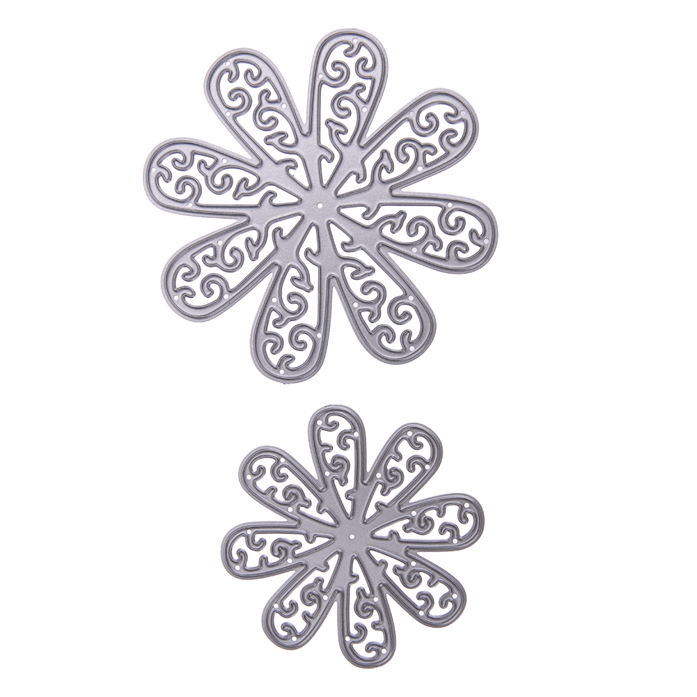 2pcs 8080mm 5656mm Metal Cutting Dies 3d Flowers Embossing Stencil