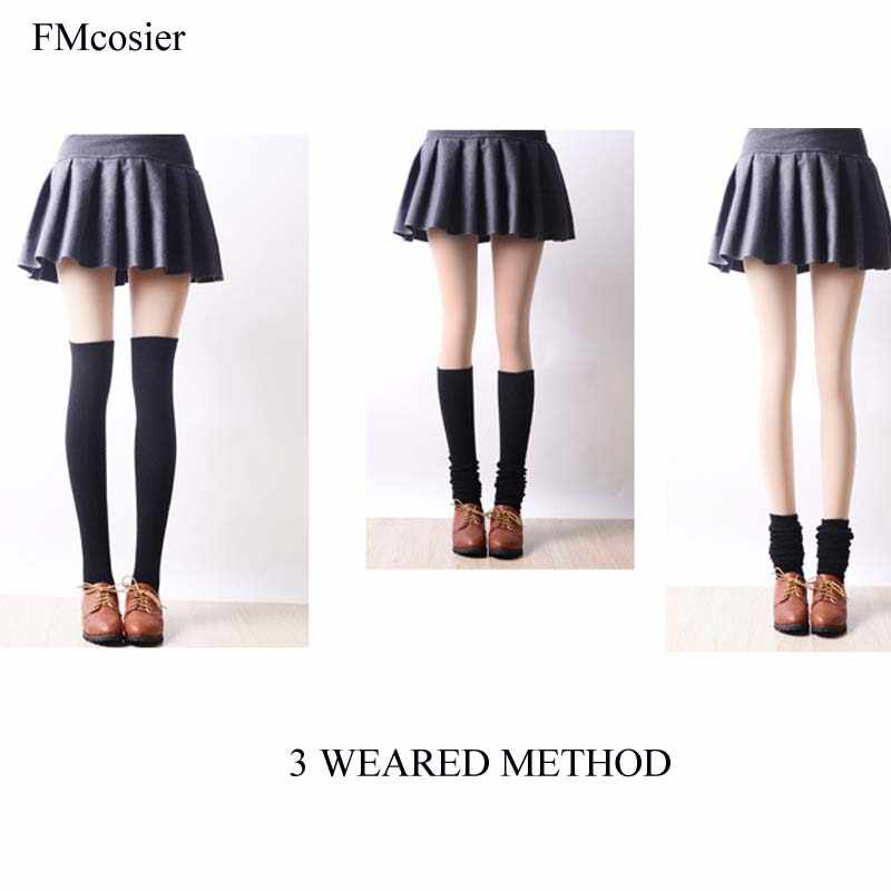 e50504fcf Detail Feedback Questions about Fashion Socks for Woman 2018 Student Thigh  High Ladies Long Socks Over Knee Socks Cotton Stocking School Dress solid  White ...