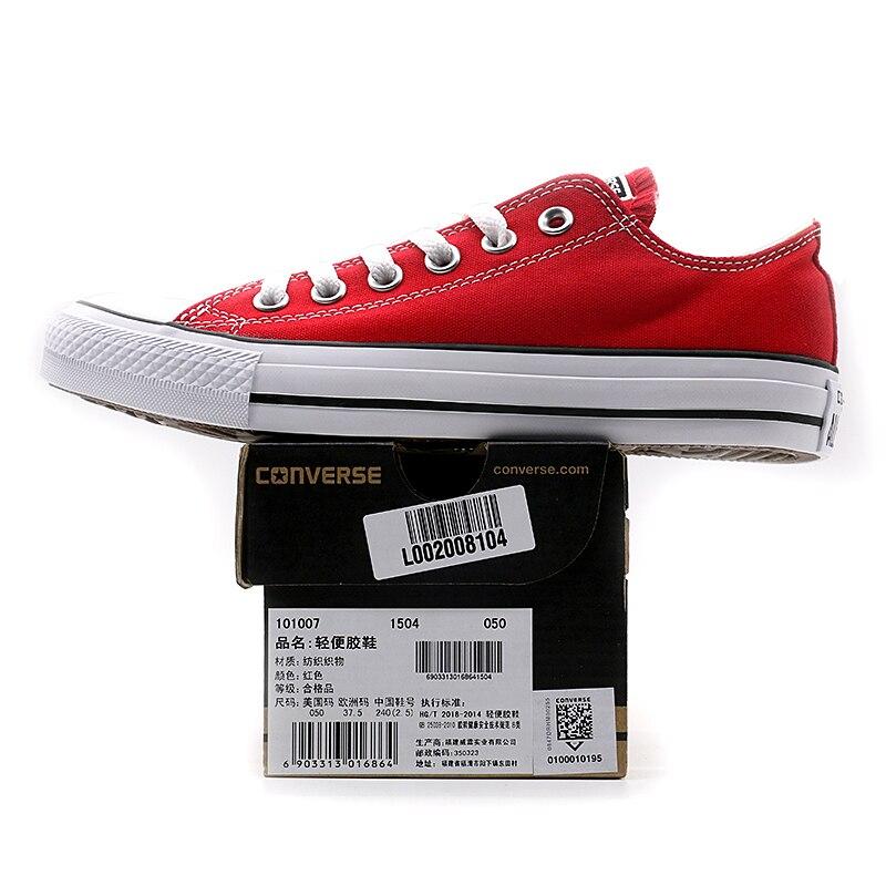 Nouveau Original Converse all star chaussures en toile pour hommes et femmes baskets mode classique Chaussures de Skateboard - 4