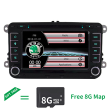 Wince Car DVD Player GPS Navigation Two Din 7 Inch For Volkswagen VW Skoda POLO PASSAT B6 CC TIGUAN GOLF 5 Fabia support 1080p 7 inch screen double din car radio cd dvd player for golf v bmw x5 e53 opel astra h vw passat b6 volkswagen