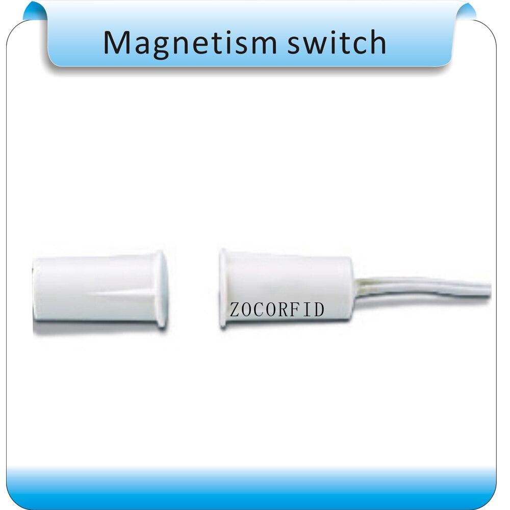 bilder für Freies verschiffen 10 stücke rund KEINE Tür Fenster Kontakte Sicherheit Magnetischen Reed Frühling Schalter Alarm Normal Open Style Schrauben