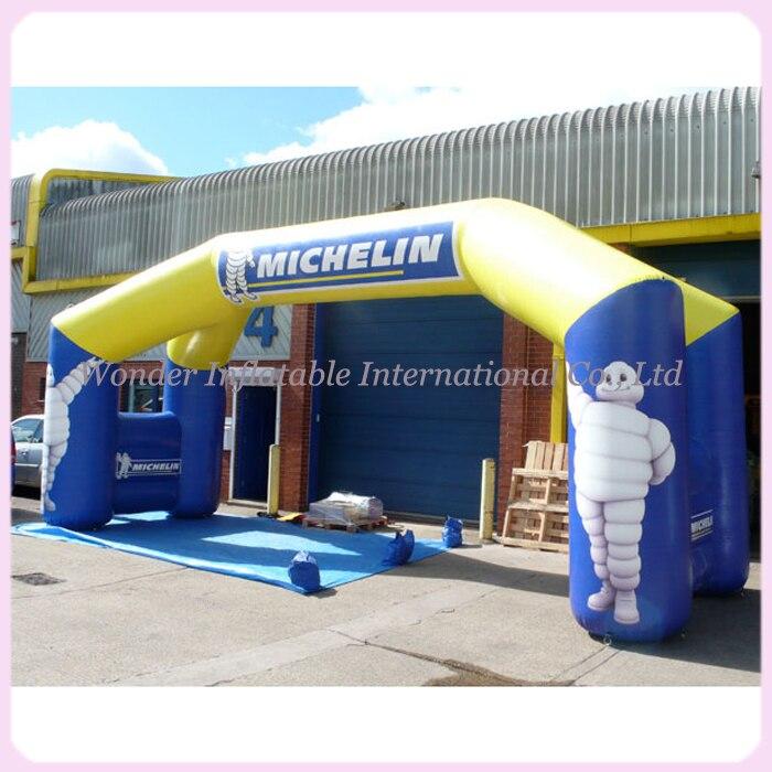 Индивидуальные гигантский шин advetising шар 8 м надувные арки для наружного отверстия продвижение
