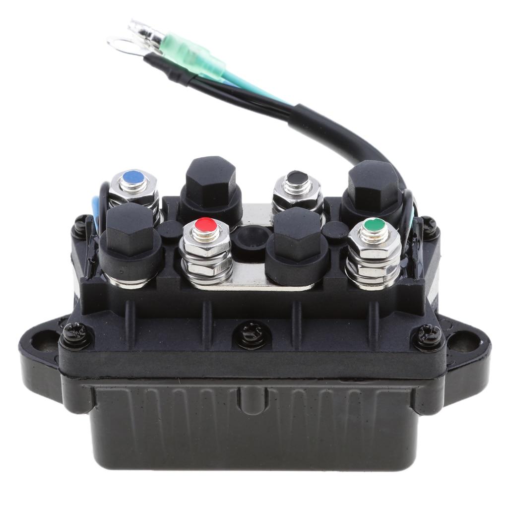 מזגנים 1 יח 2 Trim כוח 12V חוט Plug & ממסר עבור 40-225HP ימאהה 4 Stroke חיצון מנוע וכו Repalce 63P-81950-00-00 (5)