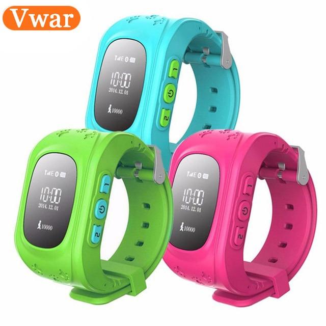 Vwar Q50 GPS Smart Kid Safe Reloj inteligente Llamada SOS Ubicación Monitor de Localizador Del buscador Del Perseguidor para Perdida Anti Del Niño Bebé Hijo Reloj