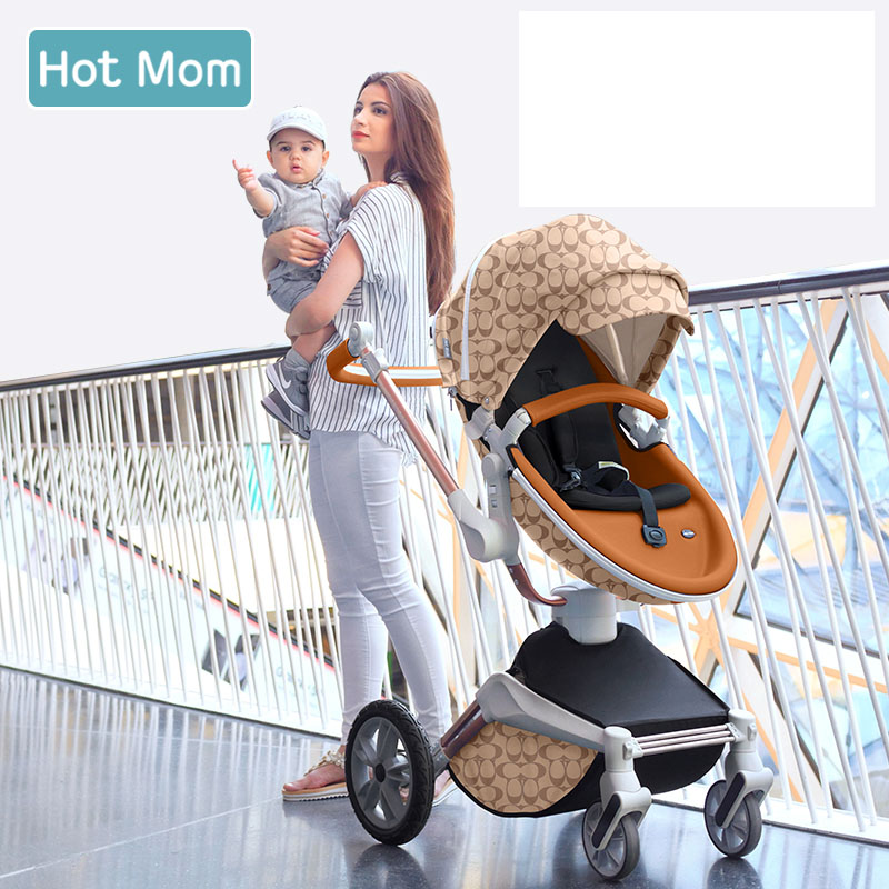 Baby carriage High landscape 2 in 1 Sitting reclining stroller Shock absorber stroller Rotating stroller free shipping